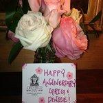 Roses from the Greyfield Inn's garden.