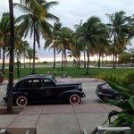 view from lobby toward beach, wow!