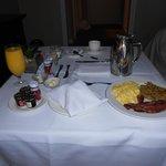 Lovely breakfast in our room!