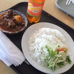 My meal...beef stew with rice...so tasty!