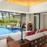 Beachfront Layan Pool Villa - Living Room