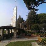 Outside the Wayfarers Chapel.