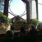 Inside the Wayfarers Chapel.