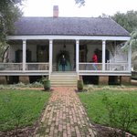 Historical restored creole cottage exterior