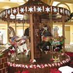 Gingerbread carousel with chocolate horses