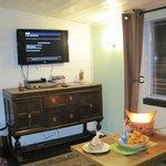Cowboy Cabin - Living Room - Satellite TV, DVDs
