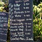 Le Cafe happy hour menu