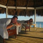 Our couples massage on the Palapa