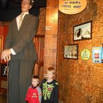 My boys don't quite measure up! :) World's tallest man replica