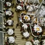 top view of ground level eatery