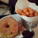Hamburger in donut