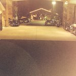 Our bikes outside parked!