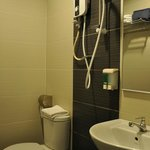 Delexe Twin: an en suite bathroom with shower facilities