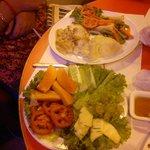 Fish and Fruit salad