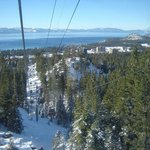 Gondola para subir a montanha