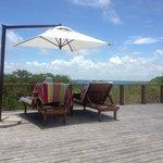 Villa 2 Pool deck view