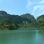The lake and scenery at Bor Saen Villa
