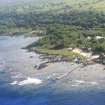 White Grass Ocean Resort from the plane