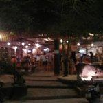 Facade of restaurant. Sorry its blur, i was too hungry! Alfresco dining. Beware mozzies!
