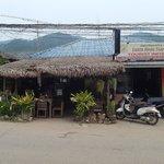 Stall/cafe facade.