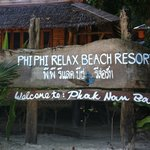 Phi Phi Relax Beach Resort Sign
