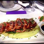 Seared tuna and wasabi Mash! Awesome