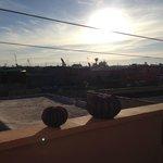 Vue de la terrasse au petit matin