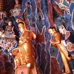 Buddhas adorn inside the pagoda ....Annh