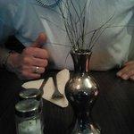het bloemetje op de tafels