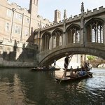 Punting under the Bridge of Sighs Cambridge