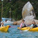 Kayaken met Kahu Kayaks in het Abel Tasman park
