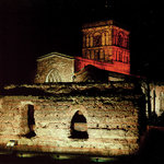 The Jewry Wall at night