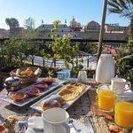 Breakfast on the rooftop terrace!