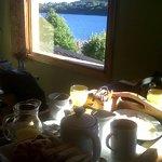 El desayuno y la vista desde la cama