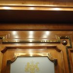 Detail of woodwork in elevator