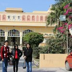 Front View of Hotel (Son, Daughter, Wife in Pic)