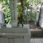 Bad im Freien, schön gemacht