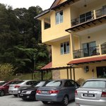 Ample parking and surrounding greenery