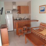 kitchenette, living room with sofa bed for third person