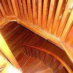 Stairway to the kitchen