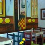 interno del ristorante della fonda