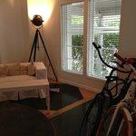 Lobby and bike rentals