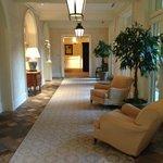 hallway off the main lobby