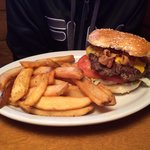 1/2 lb burger and fries