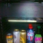 My personal shelf in the minibar