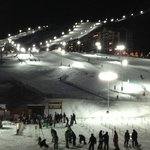 hotel deck - night skiing