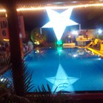 swimming pool at party night