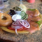 Yummy lox and bagel