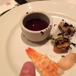 Very small sushi plate on board the Carnival Magic