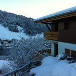 Panoramic views of the mountains and pistes, from all rooms